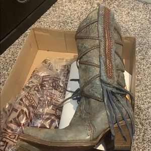 Corral Western/cowgirl Boots WORN ONCE!
